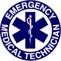 Blue EMT Badge