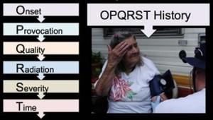 OPQRST pain history