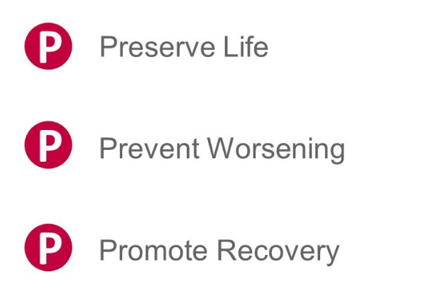 The aims of first aid – the three Ps   First Aid for Free