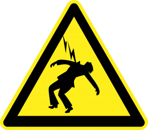 First aid for an electric shock