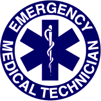 Blue EMT Badge