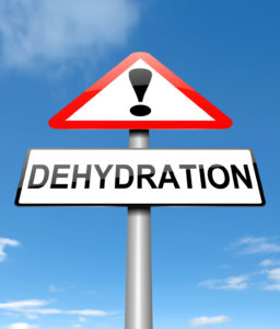 First aid steps for dehydration