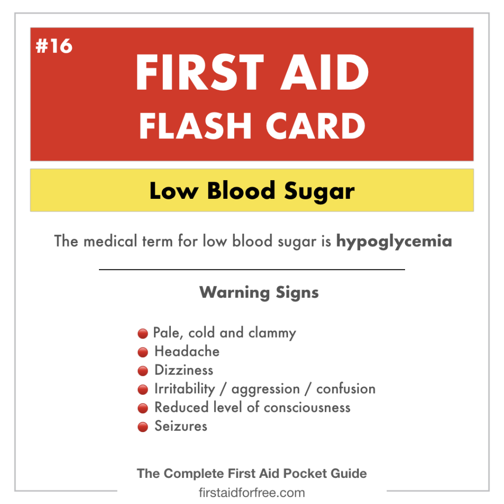 What are the Warning Signs of Hypoglycemia?   First Aid for Free